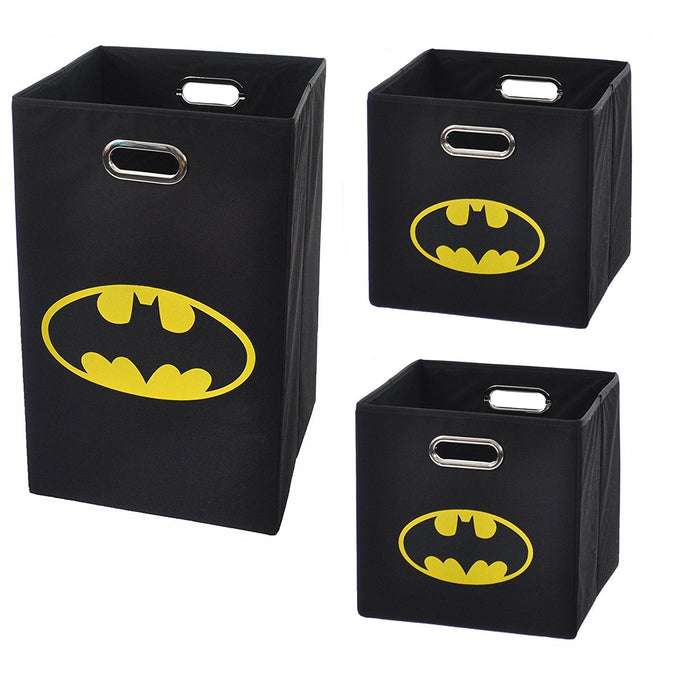 Batman Logo Storage and Laundry Bundle Pack, Black