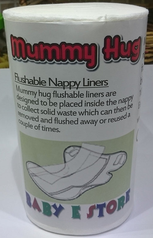 Mummy Hug 100 percentage Biodegradable Reusable/Cloth Nappy Liners