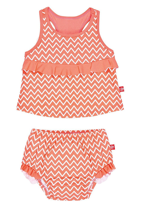 Lassig Tankini Baby Nappies (12 Months, Zigzag, Medium, Two-Piece)