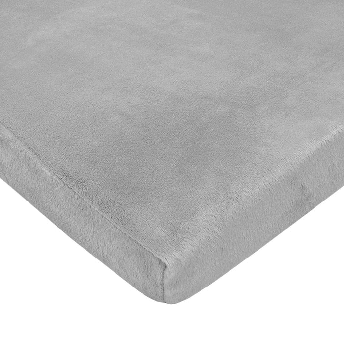 "American Baby Company Heavenly Soft Chenille Fitted Pack N Play Playard Sheet, Gray, 27"" x 39"""