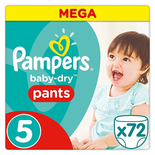 Pampers Baby-Dry Size 5 couche-culotte - 72 Pieces 11-18 kg
