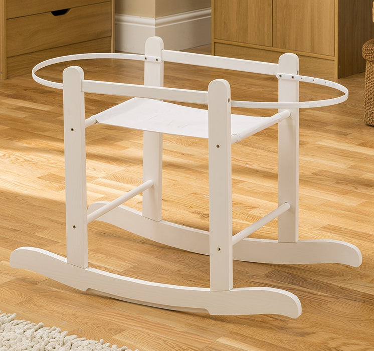 Kinder Valley Little Gem Moses Basket Rocking Stand (White)