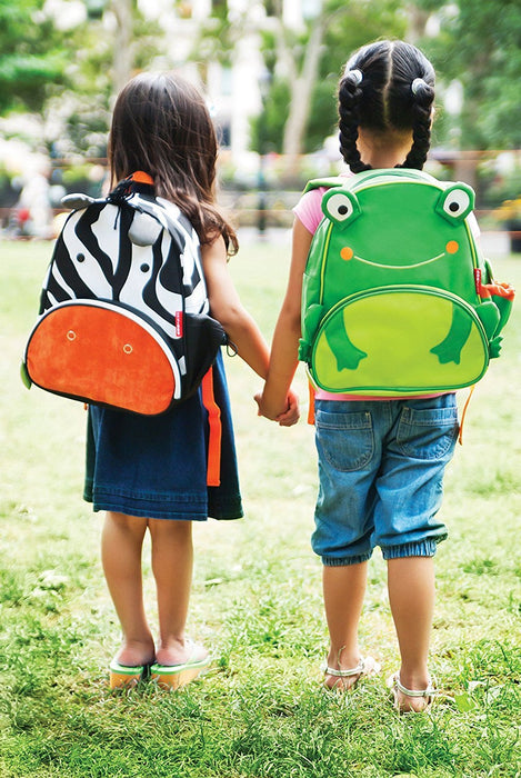 Skip Hop Zoo Toddler Kids Insulated Backpack Floyd Frog Boy, 12 inches, Green