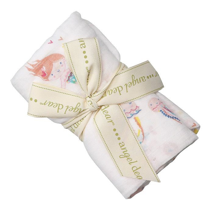 Angel Dear Mermaid Bamboo Swaddling Blankets