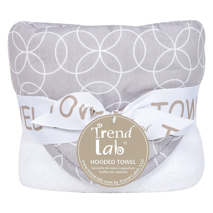 Trend Lab Circles Hooded Towel, Gray/White, 32*30-Inch