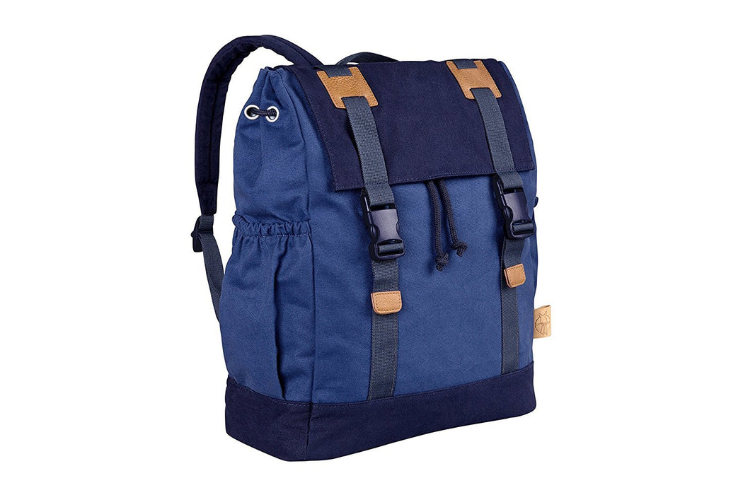 Lassig Vintage Little One And Me Diaper/Changing Backpack, Large, Blue