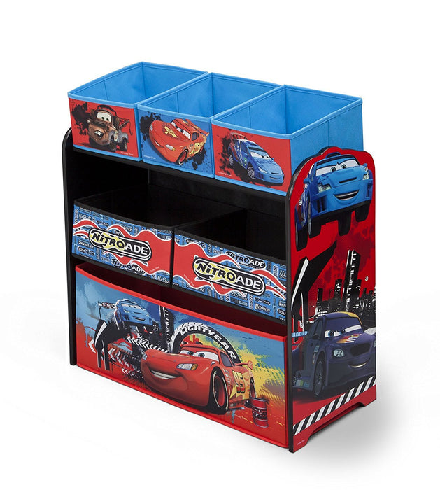 Disney Cars Multi-Bin Toy Organizer-E (Red)