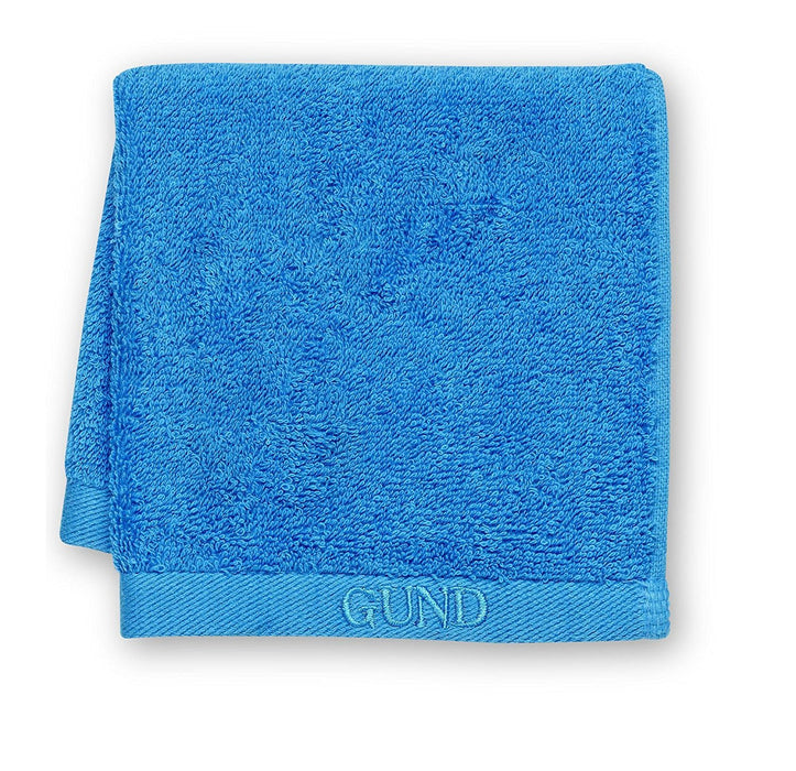 GUND Bear Essential Ringspun Face Towel, Circus Blue, 12'' By 12''