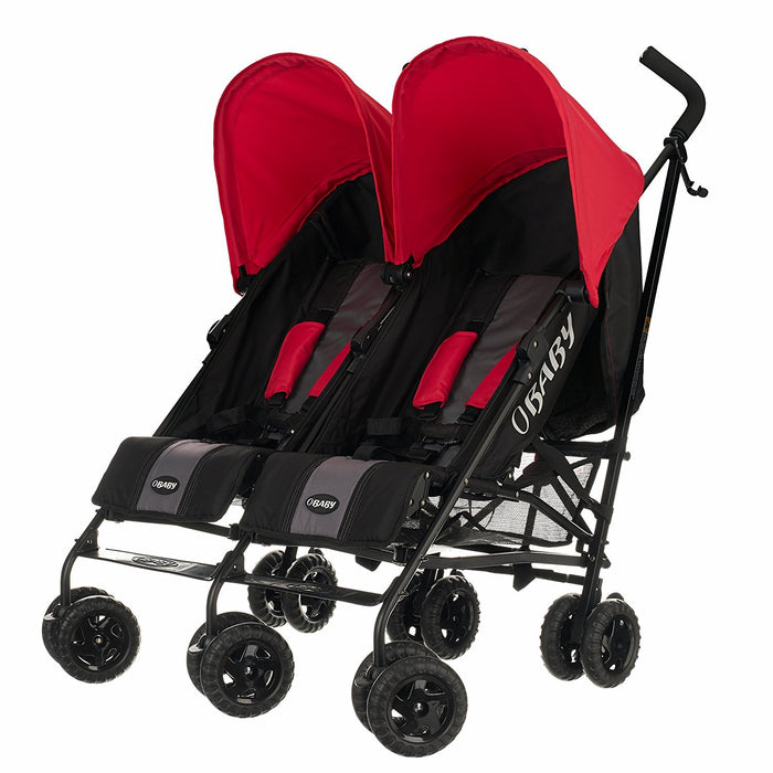Obaby Apollo Black & Grey Twin Stroller (Purple)