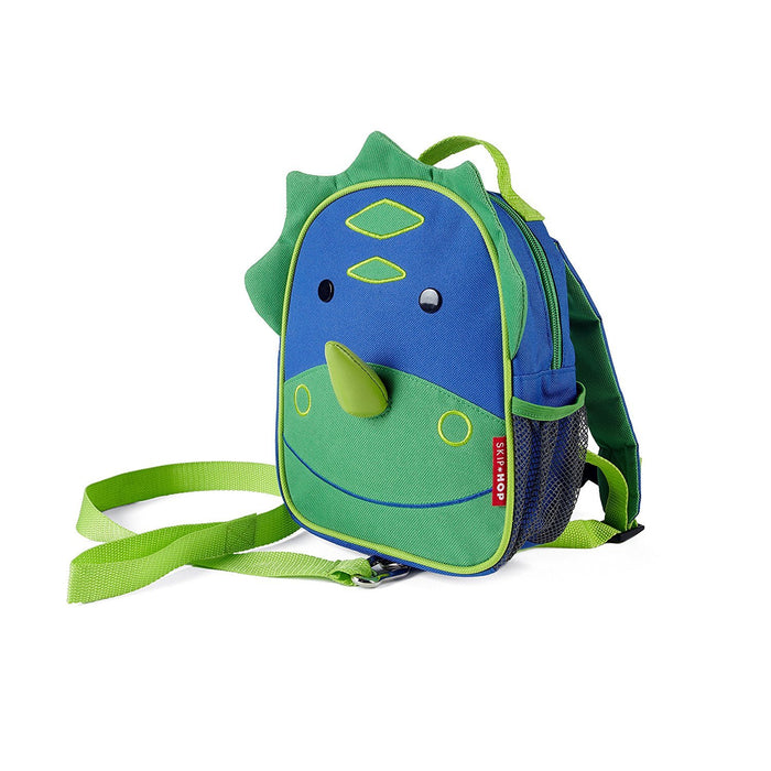 Skip Hop Zoo Little Kid and Toddler Safety Harness Backpack, Dakota Dinosaur