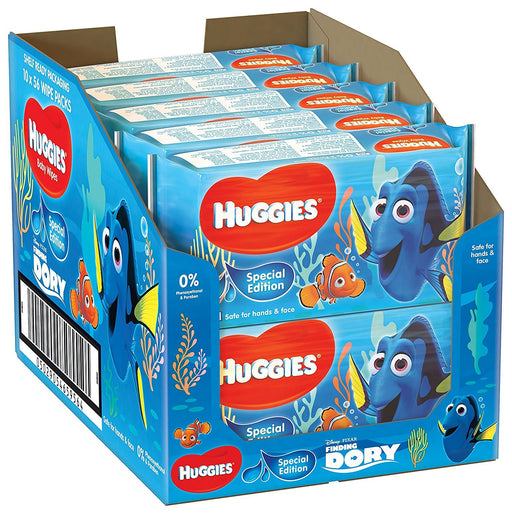 Huggies Baby Wipes, Special Edition Finding Dory - 10 Soft Packs (560 Wipes Total)