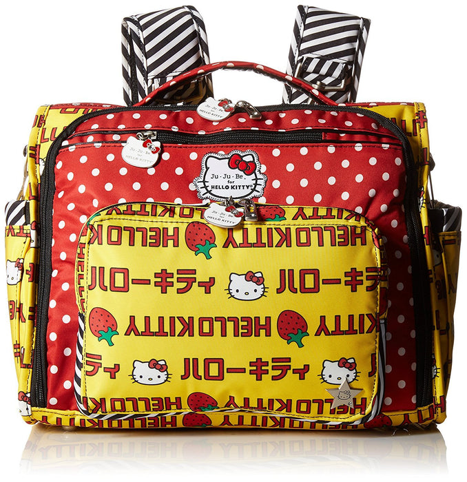 Ju-Ju-Be Hello Kitty Collection B.F.F Convertible Nappy Changing Bag - Rucksack & Messenger/ Tote, Strawberry Stripes