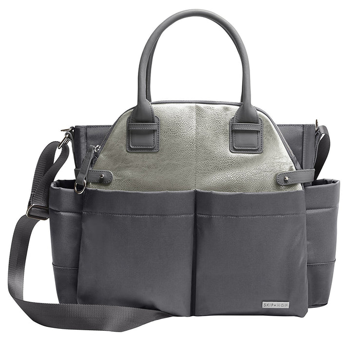 Skip Hop Chelsea Downtown Chic Diaper Satchel (Grey)