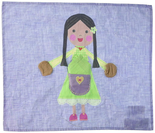 The Little Acorn Placemat, Green Girl