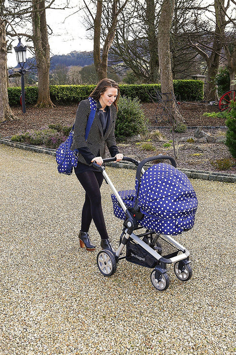 Beep Twist Travel System 3 in 1 prams with car seat (Dotted Blue)