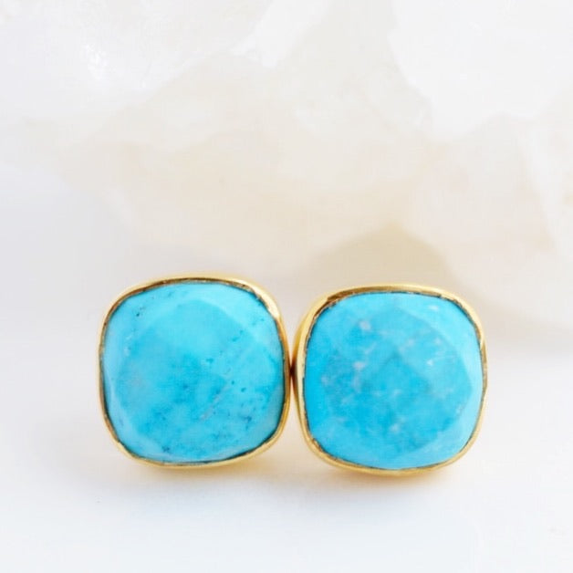 Turquoise Stud Earrings - Pink Moon Jewelry