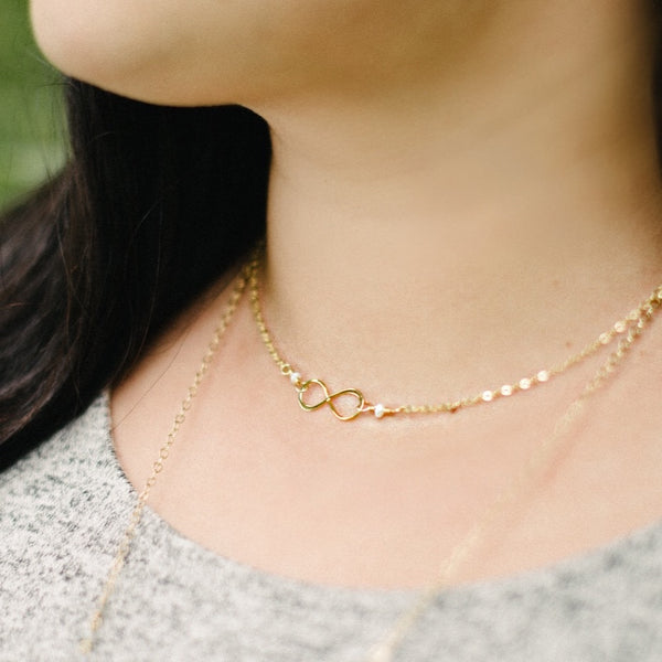 Gold Infinity Necklace - Pink Moon Jewelry