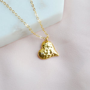 Heart Necklace - Gold - Pink Moon Jewelry