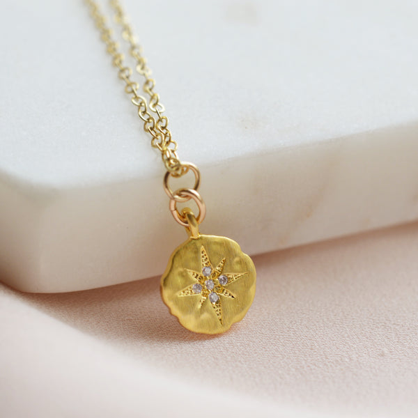 North Star Coin Necklace - Pink Moon Jewelry