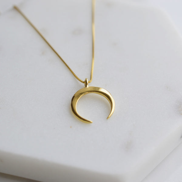 Divine Crescent Moon Necklace - Pink Moon Jewelry