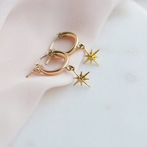 Starlight Gold Huggie Earrings - Pink Moon Jewelry