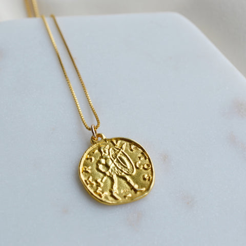 Warrior Coin Necklace - Pink Moon Jewelry