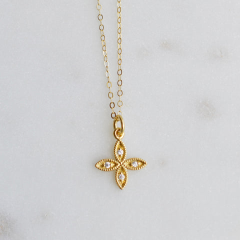 Good Fortune Gold Necklace - Pink Moon Jewelry