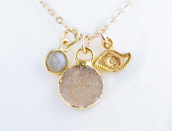 No Bad Vibes Gold Necklace - Pink Moon Jewelry