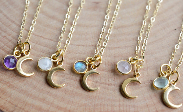 Celeste Gold Necklace - Pink Moon Jewelry