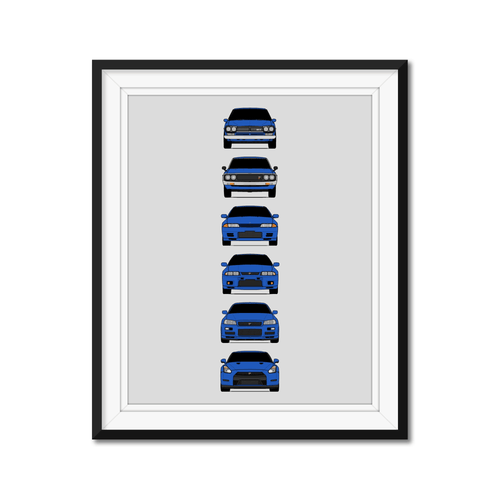 Nissan Skyline GT-R Generations/History Print