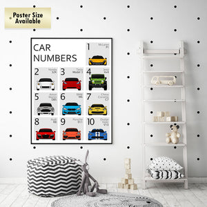 Car Nursery 123 Number Print