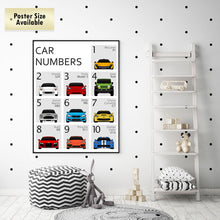 Car Nursery ABC and 123 Print Set