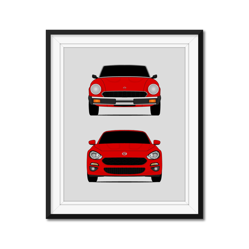 Fiat 124 Spider Generations/History Print