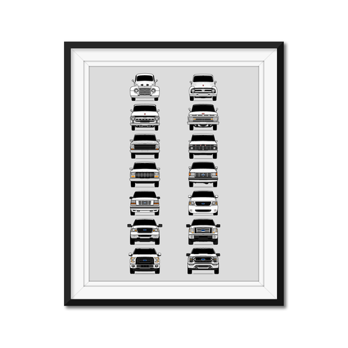 Ford F-150 Generations/History Print