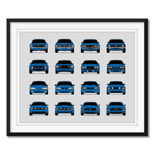 Ford Mustang Generations/History Print (Landscape 2)