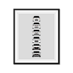 Honda Civic Type-R Generations/History Print
