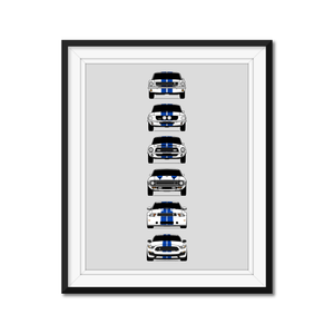 Shelby GT350 Generations/History Print