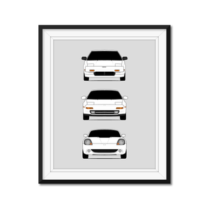 Toyota MR2 Generations/History Print