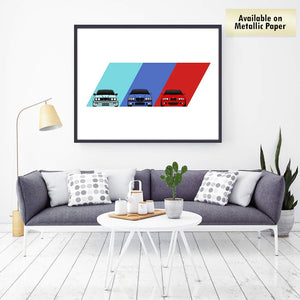 BMW E30 E36 E46 M Power Generations Print