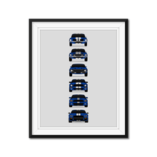 Shelby GT500 Mustang Generations/History Print