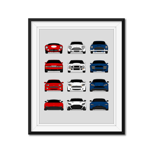 Aston Martin Evolution Generations/History Print