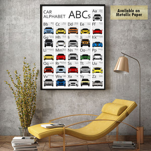 Car Nursery ABC Alphabet Print