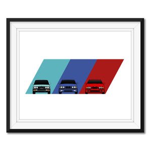 BMW M5 E28 E34 E39 M Power Generations Print