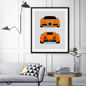 Bugatti Veyron Print (Front and Rear)