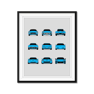 Chevy Corvette Generations/History Print