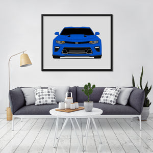 Chevy Camaro SS Sixth Generation Print (2016-2018)