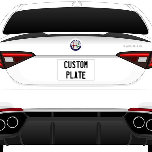 Custom License Plate - Add On