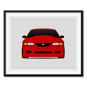 Ford Mustang SVT R 2000 Print