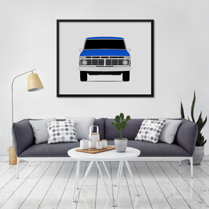 Ford F-100 6th Generation Print (1973-1979)