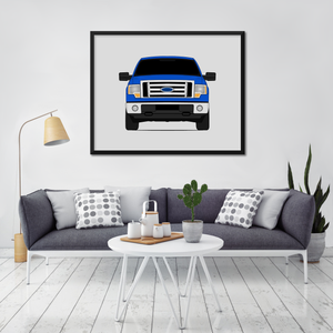 Ford F-150 12th Generation Print (2009-2014)